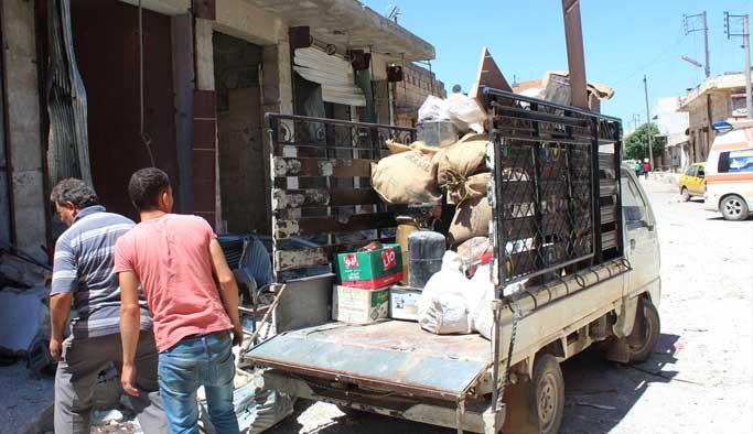 Rus ateşindeki Halep'ten göç başladı