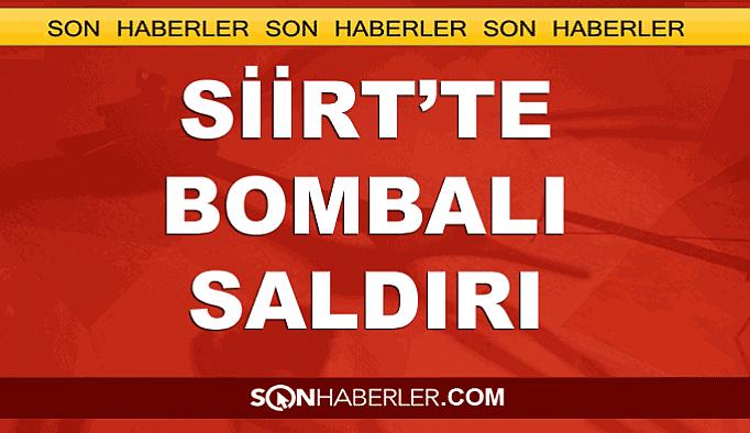 Siirt'te askeri konvoya bombalı saldırı