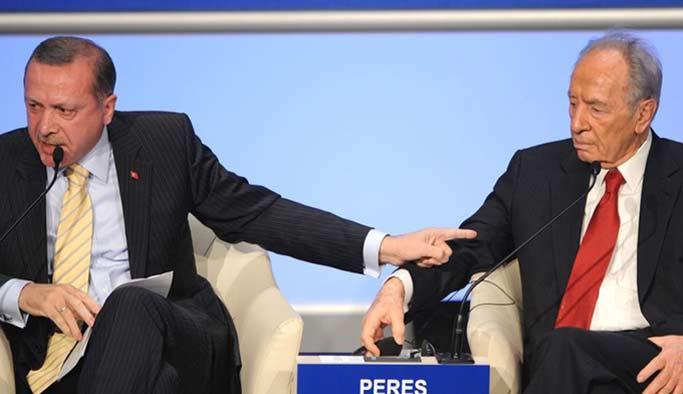 Şimon Peres'den Türk gazeteciye 'One Minute'