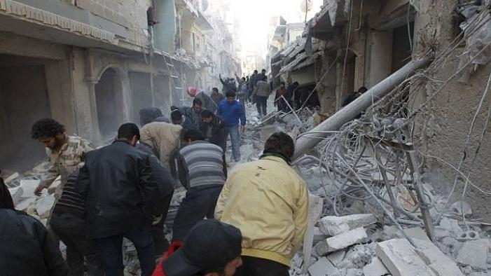 Suriye'de Dera'ya Hava saldırısı
