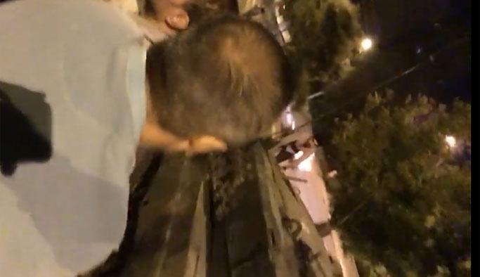 Tankın üzerinde 'ölüm kalım' savaşı VIDEO