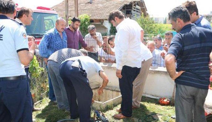 Tekirdağ'da su kuyusuna giren baba-oğul öldü