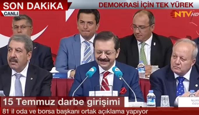 Türkiye'nin 81 ilinden odalar birliğinden ortak açıklama