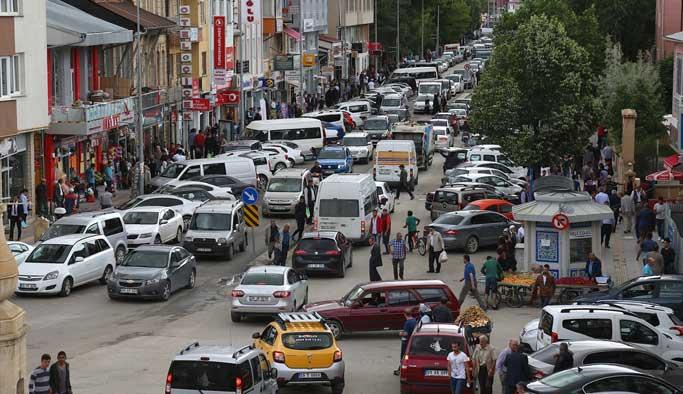 Türkiye'nin en küçük ilinde 'İstanbul trafiği'