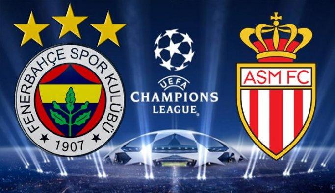UEFA Şampiyonlar Ligi Fenerbahçe: 2 - Monaco: 1