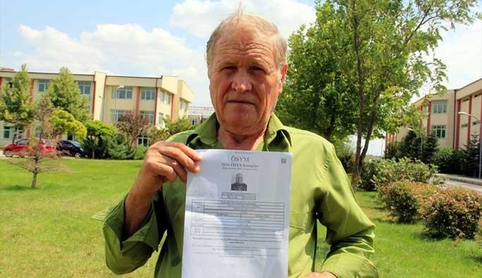 72 yaşındaki hurdacı üniversiteli oldu