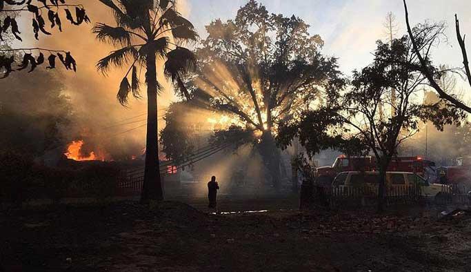 ABD'de onbinleri etkileyen yangın