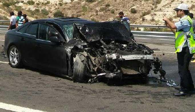AK Parti Gaziantep Milletvekili Yüksel kaza geçirdi