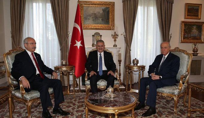 Başbakan Yıldırım, Kılıçdaroğlu ve Bahçeli ile görüştü