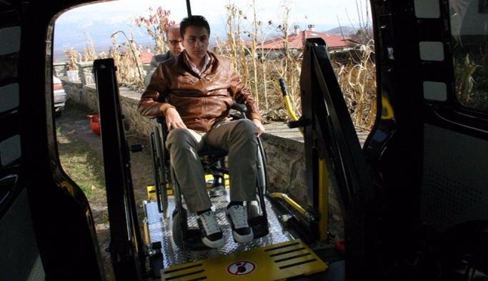 Bakanlıktan 51 ile engelli minibüsü