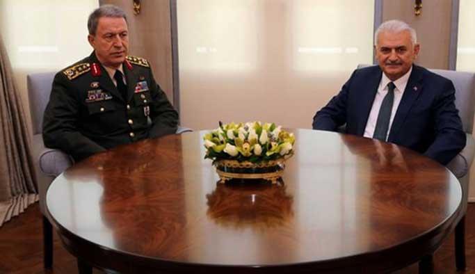 Başbakan Yıldırım Akar ve Fidan ile görüştü