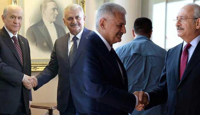 Başbakan Yıldırım, Kılıçdaroğlu ve Bahçeli'ye bilgi verdi