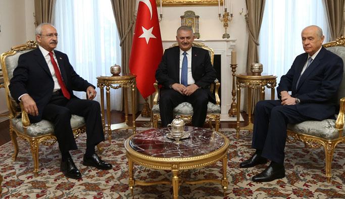 Başbakanlık'taki zirvede konu Suriye ve terördü