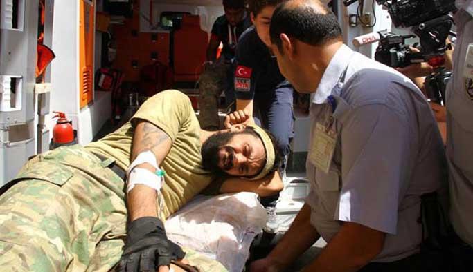 Cerablus'ta yaralanan ÖSO üyeleri Gaziantep'te