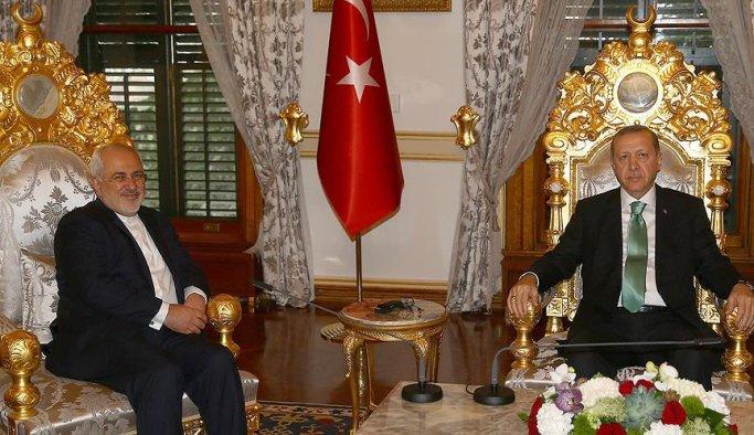 Cumhurbaşkanı Erdoğan'ın İran Dışişleri Bakanını kabul etti