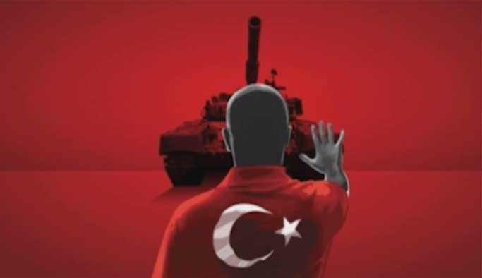 'Demokrasi ve Şehitler Mitingi' için tanıtım filmi