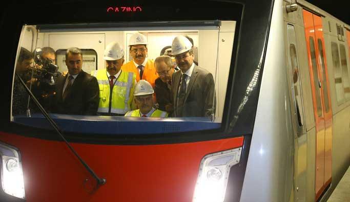 Dillere destan Keçiören Metrosu'nda test sürüşü