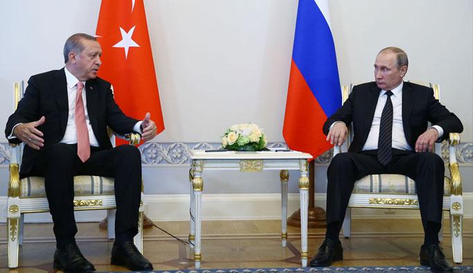 Erdoğan ile Putin iki buçuk saat Suriye'yi konuştu