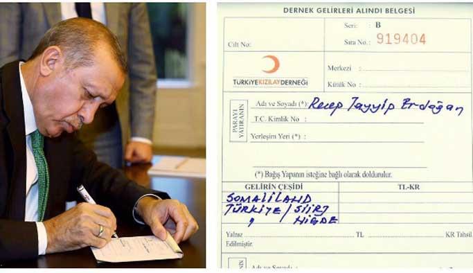 Erdoğan, kurban bağışlarını Kızılay'a yaptı