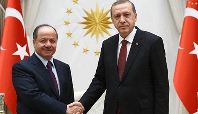 Erdoğan ile Barzani terör örgütlerini konuştu