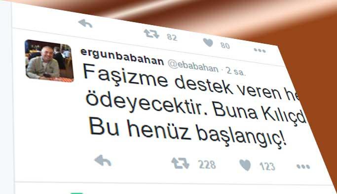 Gazeteci Babahan'dan skandal paylaşım