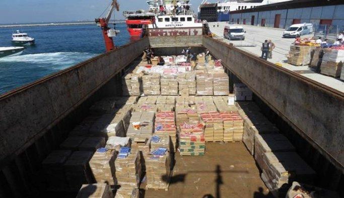 Gemilere kaçak sigara operasyonu