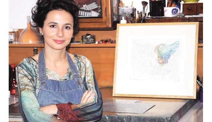 Gravür sanatçısı Türemen'in eseri Albertina Müzesi'nde