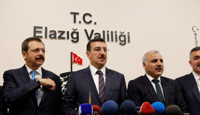 Gümrük ve Ticaret Bakanı Tüfenkci, Elazığ'da