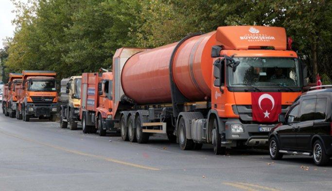 Hafriyat kamyonları ve otobüsler, nizamiyelerden uzaklaştırıldı