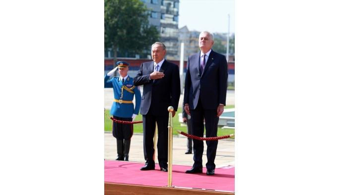 Kazakistan Cumhurbaşkanı Nazarbayev Sırbistan'da