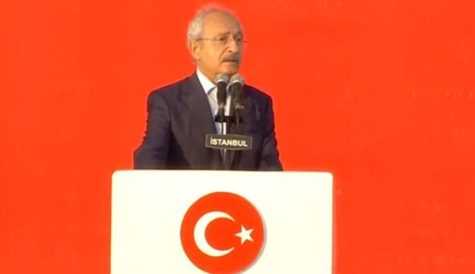 Kemal Kılıçdaroğlu Yenikapı'da konuştu