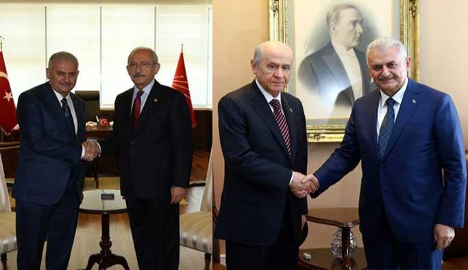 Kılıçdaroğlu ve Bahçeli Başbakanlık'a çıkıyor