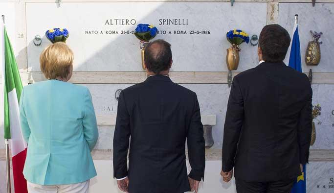Merkel, Hollande ve Renzi AB'nin kurtuluş yolunu görüştü