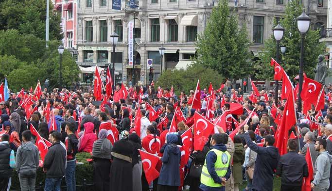 Norveç'te 15 Temmuz protestoları