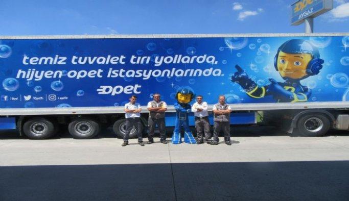 OPET Temiz Tuvalet Tırları Adana'da