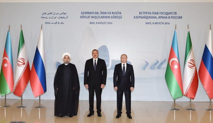 Putin, Ruhani, Aliyev Zirvesi