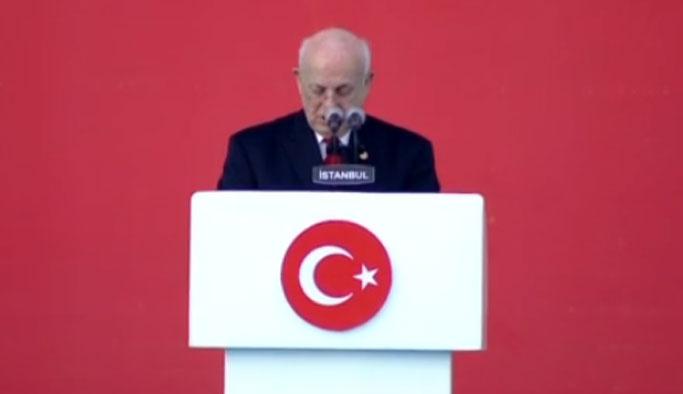 TBMM Başkanı Kahraman Yenikapı'da konuştu