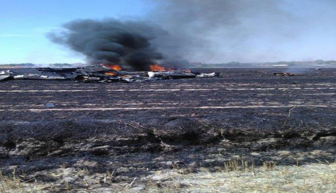 Tekirdağ'daki uçak kazasının incelemeleri sürüyor