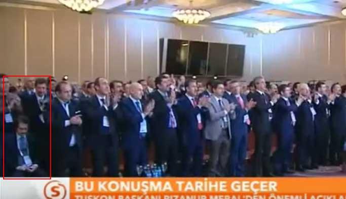 Topbaş'ın damadı o konuşmayı alkışlamadı VIDEO