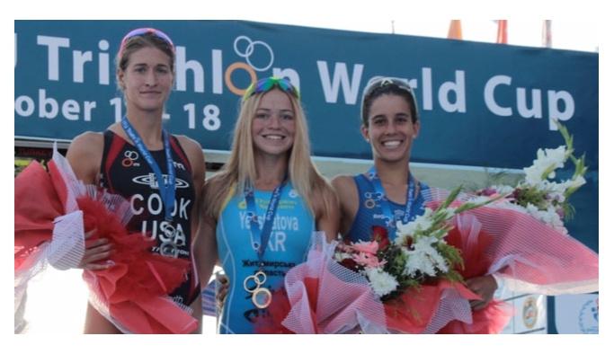 Triatlon kadınlarda finaller sona erdi