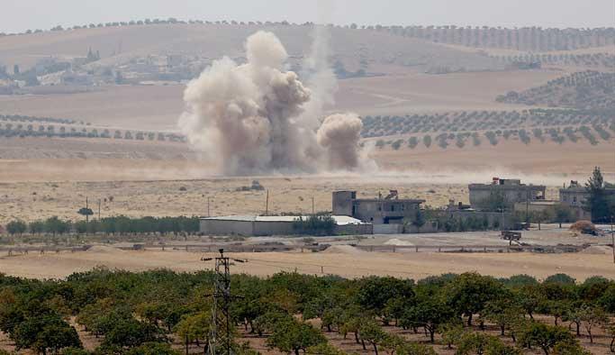 TSK, Cerablus'taki terörist hedeflerini vurdu