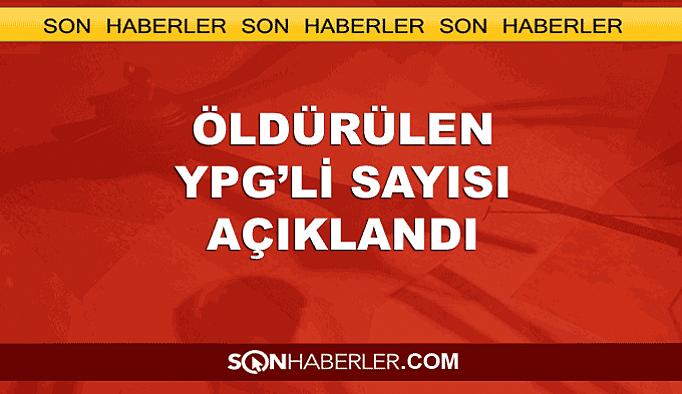 TSK öldürdüğü YPG'li sayısını açıkladı