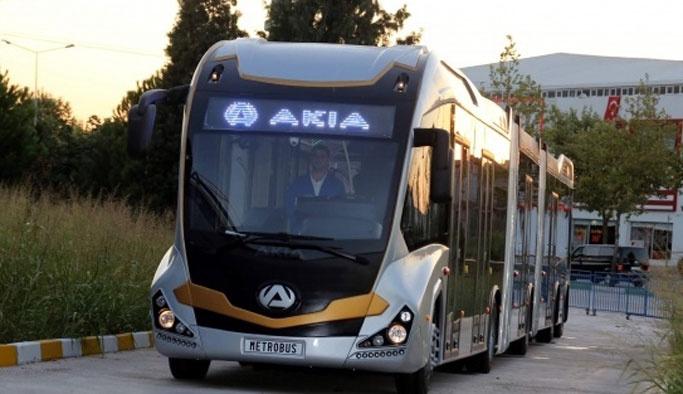Türkiye'nin ilk yerli metrobüsü üretildi