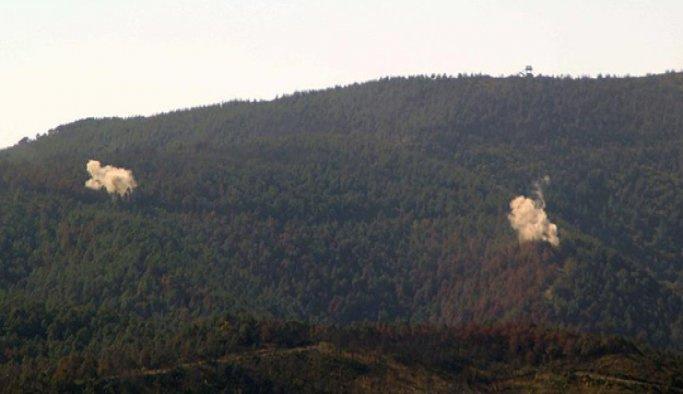 Türkmendağı'na hava saldırısı düzenlendi