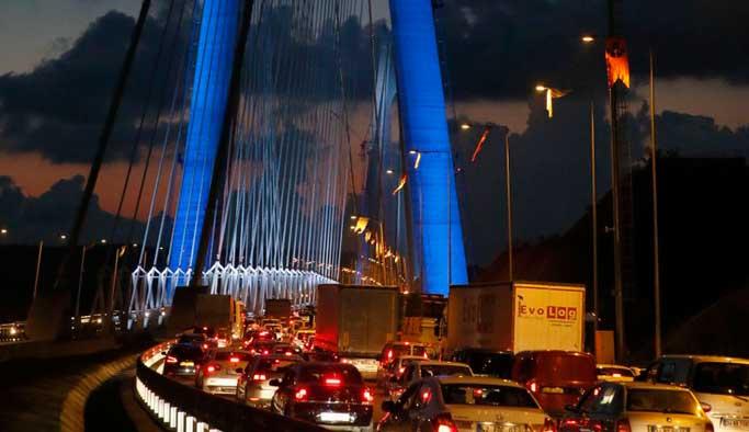 Yavuz Sultan Selim Köprüsü bugün de tıkandı