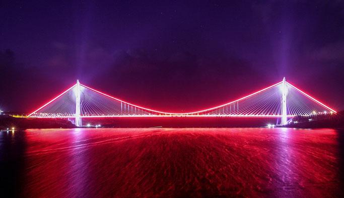 Yavuz Sultan Selim Köprüsü'nde geçişler başladı