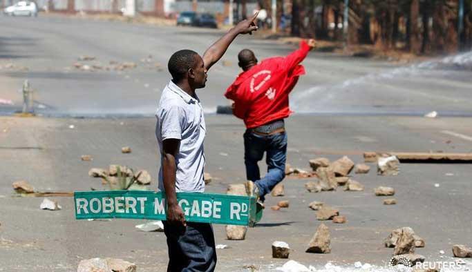 Zimbabve'deki muhalif gösteride 50 yaralı