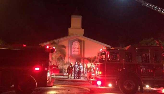 ABD'de cami yakan kişi yakalandı