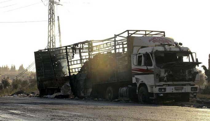 ABD: Yardım konvoyunu Rusya vurdu