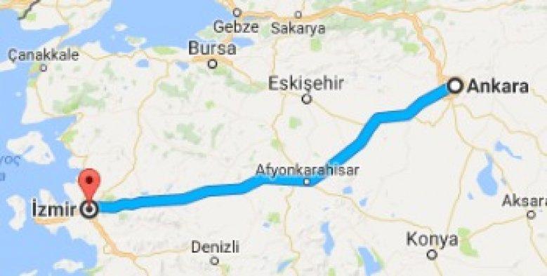 Ankara-İzmir yolu da kısalıyor
